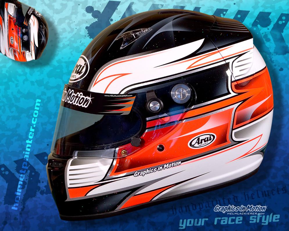 Helm Design graphics in motion ihr helmlackierer fertigt helmlackierungen für